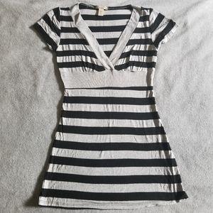 American Rag Macy's V-neck Stripe Tunic Tshirt S